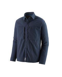 Patagonia Langærmet Snap-Dry Skjorte - Navy blå