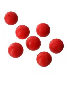Ground Contact Artificial Boilie - Bright Red - 14mm - 10 stk.