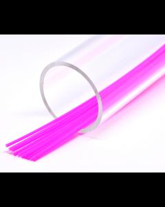 FutureFly Rør - 3 mm - FL. Magenta/Trans - Soft