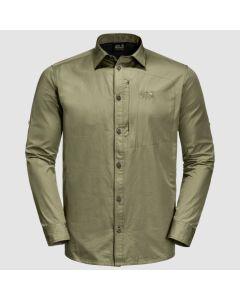 Jack Wolfskin Lakeside Roll-up shirt - Herre Skjorte - Khaki