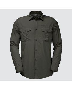Jack Wolfskin Atacama Roll-Up Skjorte - Dark Moss