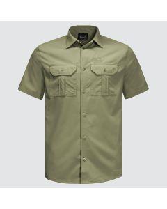 Jack Wolfskin Kwando River kortærmet skjorte - Khaki