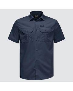 Jack Wolfskin Kwando River kortærmet skjorte - Night Blue
