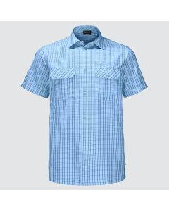 Jack Wolfskin Thompson kortærmet skjorte - Cool Water Checks
