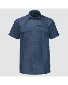 Jack Wolfskin Thompson kortærmet skjorte - Ocean Wave Checks