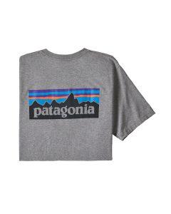 Patagonia P-6 Logo 100% genanvendt t-shirt - Grå