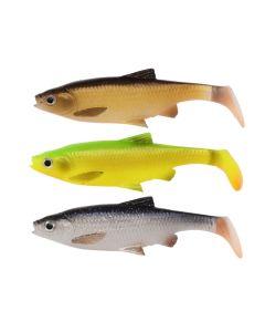 Savage Gear 3D Roach Paddle Tail - 10cm - 10g - 3 stk kit