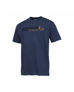 Savage Gear Signature Logo T-shirt - Blue Melange