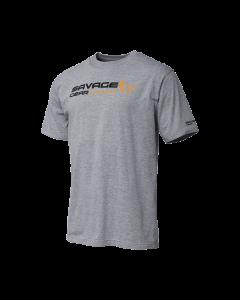 Savage Gear Signature Logo T-shirt - Grey Melange