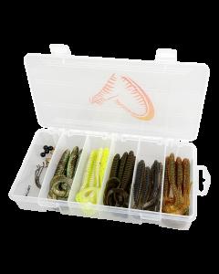 Savage Gear Rib Worm Kit - 30 + 17 pcs