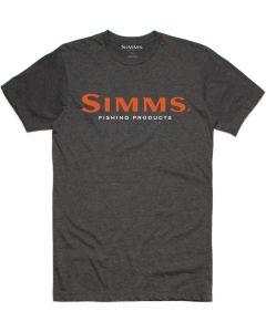 Simms Logo T-Shirt Charcoal Heather