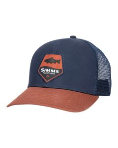 Simms Trout Patch Trucker Rusty Red