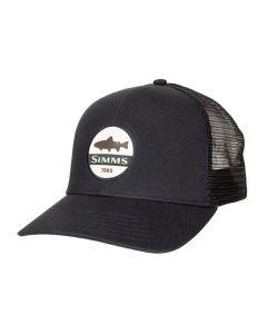 Simms Trout Patch Trucker - Black