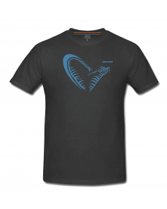 Savage Gear Simply Savage Jaw - Grå T-Shirt m. blå jaw