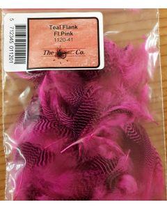 Teal Fjer - Fl. Pink