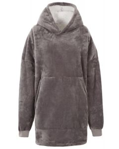 Trespass Cosiness Oversized Hoodie - Storm Grey