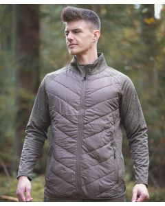 VikinX Torben - Front Polstret Sweater - Wood Brown Melange