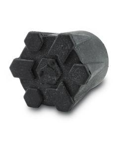 Simms Wading Staff Rubber tip - Black - Vadestav Gummi Spids