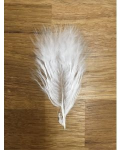 The Fly Co Wooly Bugger Marabou Fjer - Hvid