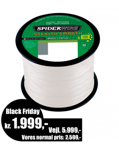 Spiderwire Smooth 8 - Translucent - Bulk 3.000m - 0,35mm/40,8kg - Black Friday