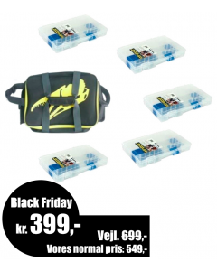 IFISH Grejtaske L inkl. 5x Flambeau 5004 grejkasser - Black Friday