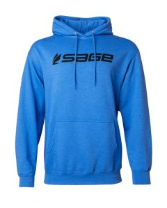 Sage Logo Hoodie - Heather Blue