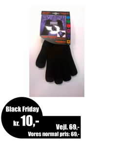 Pad Glove - Touch venlig strikhandske - Dame - Black Friday