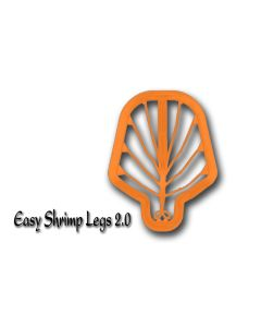 Easy Shrimp Legs 2.0 - 6 stk - Medium Super Fluo Orange