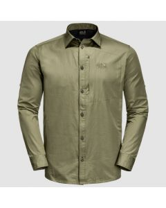 Jack Wolfskin Lakeside Roll-up shirt - Herre Skjorte - Khaki