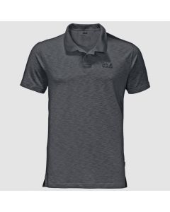 Jack Wolfskin Travel Polo Trøje Herre - Dark Iron