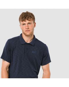Jack Wolfskin Travel Polo Trøje Herre - Night Blue