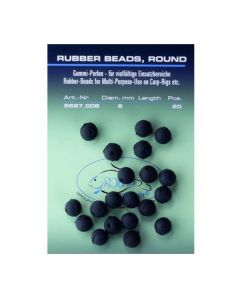 Jenzi Rubber Beads - Sort