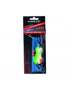 Kinetic Sabiki Plaice Leader/Spoon - 80g-Ske - Green Pearl