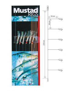 Mustad T81 Rig - Sildeforfang - #4