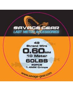 Savage Gear Laste Meter 49 strand Wire - 0.60mm - 10m - 60LBS