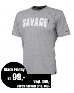 "Savage Gear ""Simply Savage"" T-shirt - Lys Grå"
