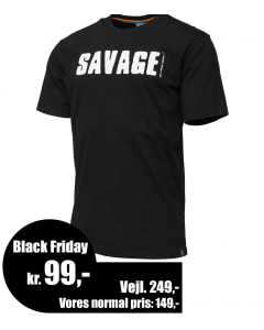 Savage Gear Simply Savage Logo - Sort T-Shirt