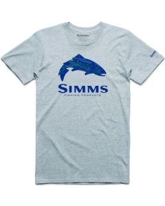 "Simms ""Fire Hole Trout"" T-shirt - Grå"