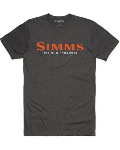 Simms Logo T-Shirt Charcoal Heather