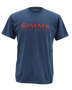 "Simms ""Wordmark"" T-shirt - Blå"