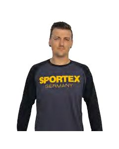 Sportex Langærmet T-shirt - Sort