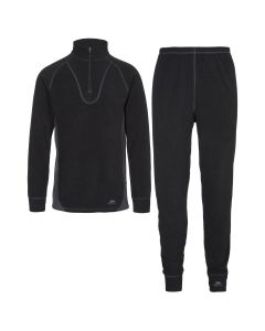 Trespass Thriller Unisex Thermo undertøj - Sort