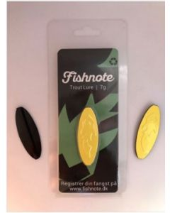 Fishnote Trout Lure 7g - Sort-Gul