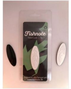 Fishnote Trout Lure 7g - Sort-Hvid