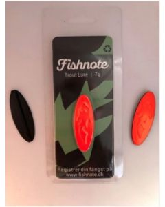 Fishnote Trout Lure 7g - Sort-Orange