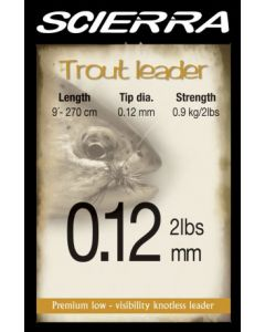 Scierra Trout Tapered Fly Leader - 9'
